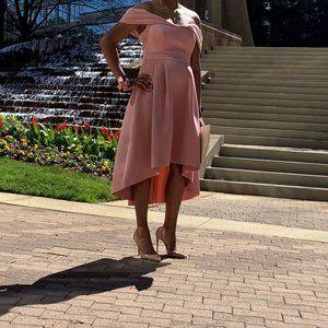 Dusty Pink Midi Wedding Guest Dress